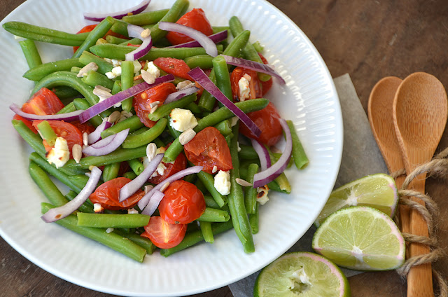 bønnesalat med tomat og feta