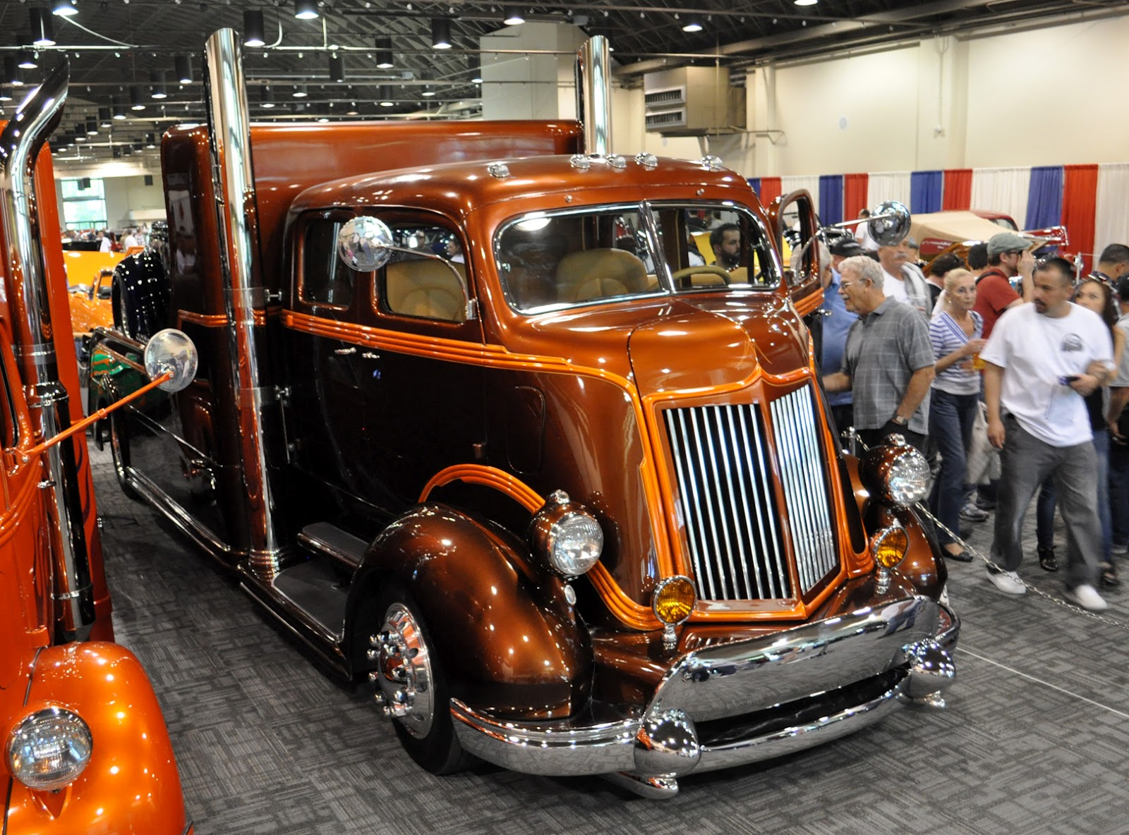Just A Car Guy: The cool hot rod haulers were teamed up in a display ...