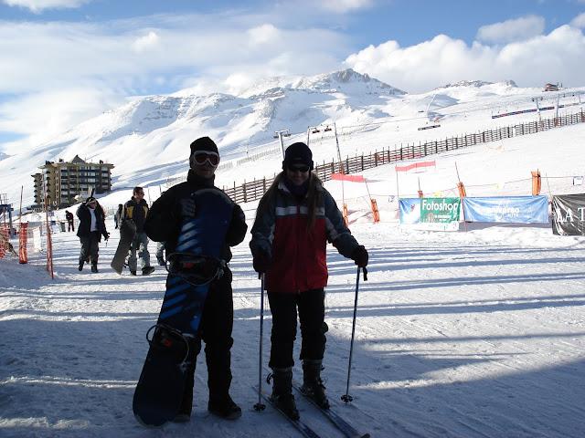 El Colorado - alugamos os equipamentos de esqui e snowboard.