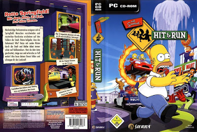 Jogo The Simpsons - Hit & Run PC DVD Capa