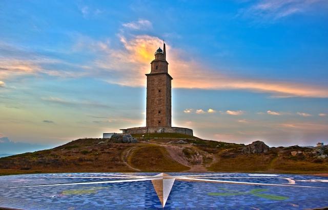 Torre de Hércules em La Coruña