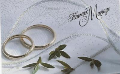carte de mariage texte
