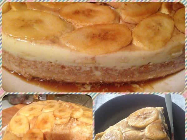 Сладкиш с банани, крем карамел и пандишпан