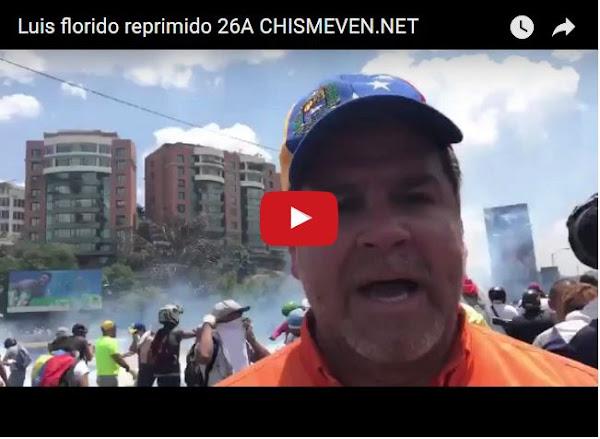 Luis Florido envía mensaje a comunidad internacional mientras es reprimido