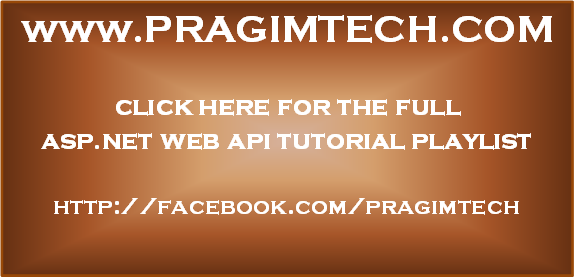 ASP.NET Web API tutorial for beginners