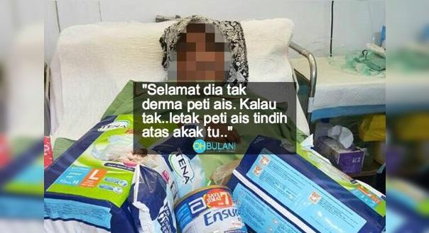 """""""Nasib baik tak susun atas muka""""- Susun barang bantuan atas badan pesakit dan ambil gambar, pegawai khas ahli politik dikecam netizen"""