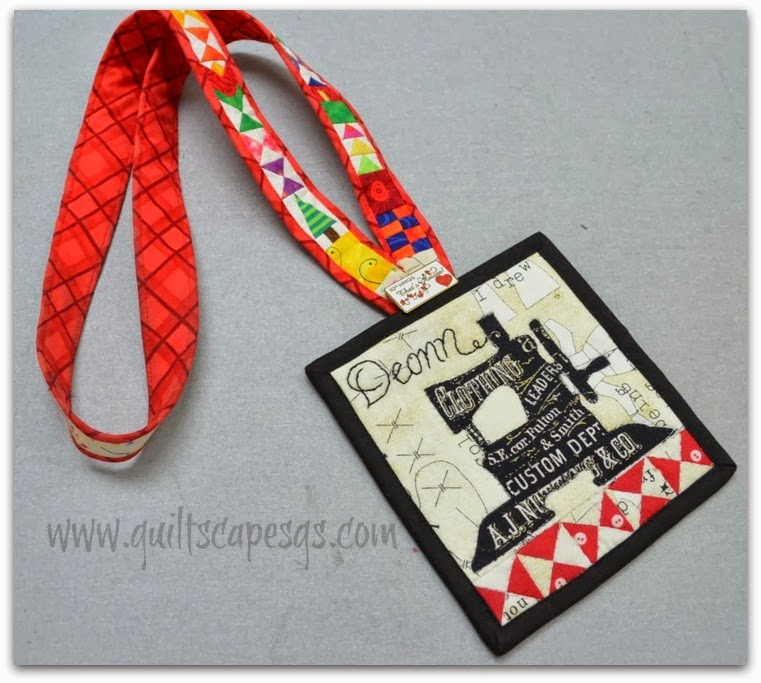 Quiltscapes Snippets A Quilted Nametag