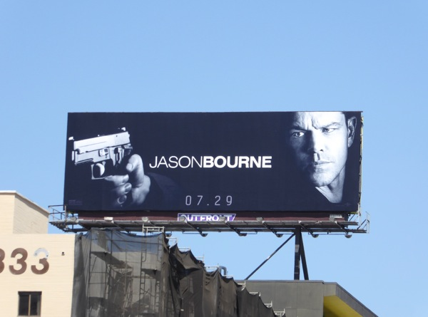 Matt Damon Jason Bourne movie billboard