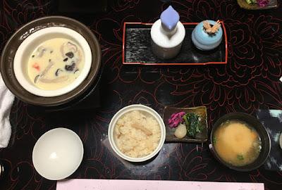 富士乃湯旅館の夕食・終盤