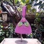 Tas Rajut Tenteng Warna Pink Model Segitiga-Kode:PRJ 630