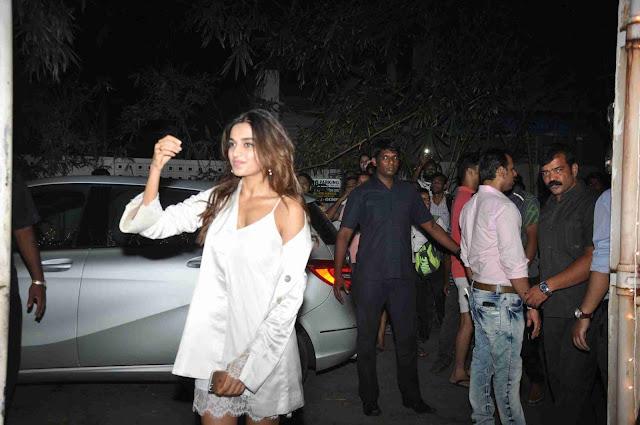 Actress Nidhi Agarwal Stills at Toilet - Ek Prem Katha Movie Premiere