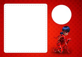Para hacer invitaciones, tarjetas, marcos de fotos o etiquetas, para imprimir gratis de Prodigiosa Ladybug.