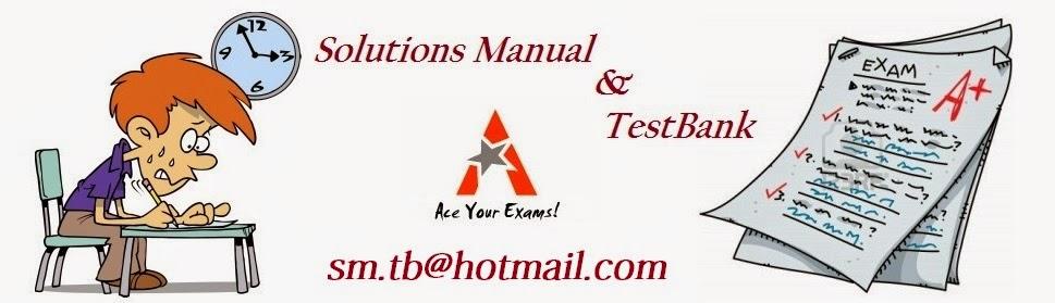 Solution Manual & Test Bank
