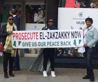 "Nigerians In Uk Take ""Prosecute El-Zakyzaky Now"" Protest To Commonwealth House In London; See Photos"