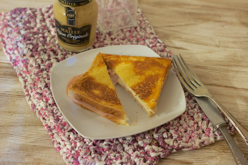 Sandwich a la mostaza en el horno
