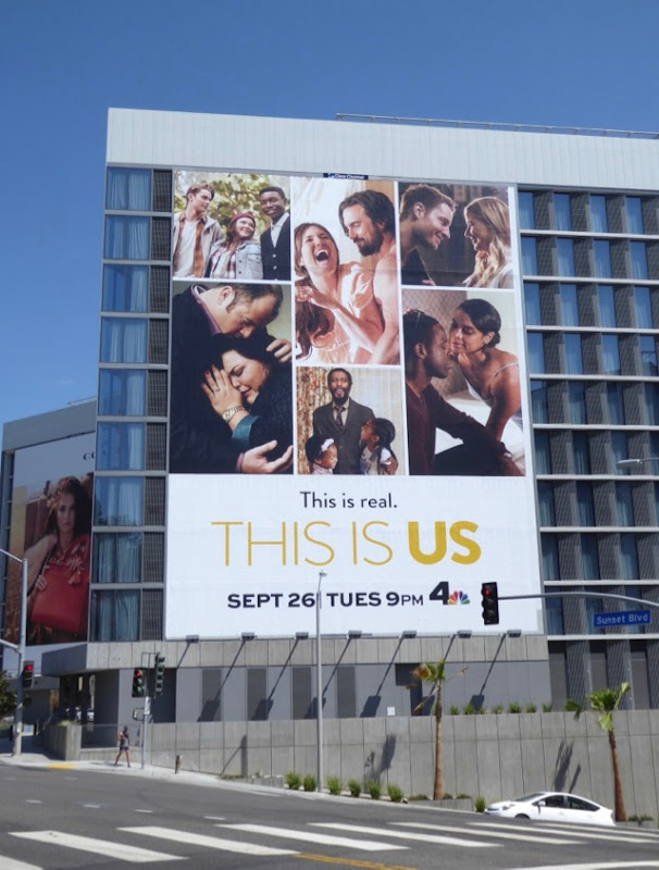 Giant This Is Us season 2 billboard Sunset Strip