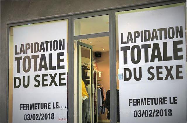 texte : Lapidation totale du sexe