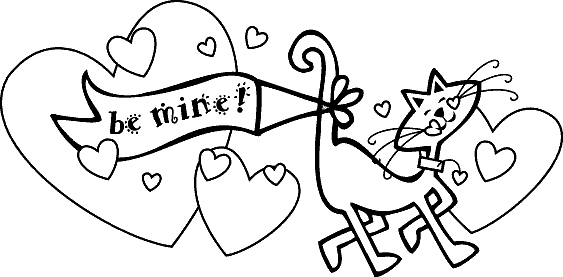 valentine coloring pages be mine - photo #41