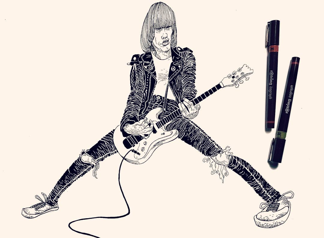 Illustration artwork Johnny Ramone