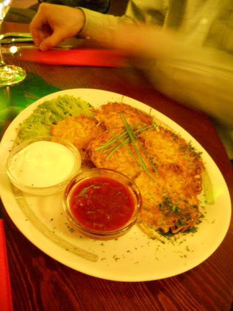 What to eat in Riga Latvia: Potato pancakes