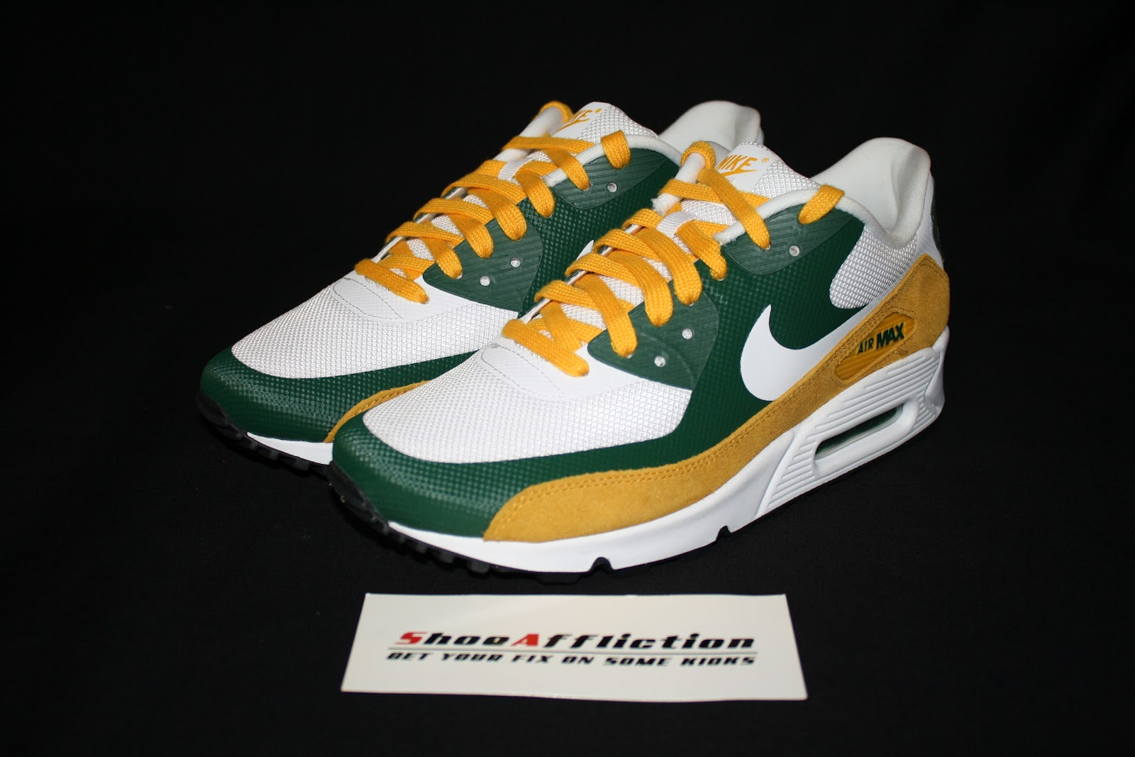 green bay packer nike air max 90 hyperfuse