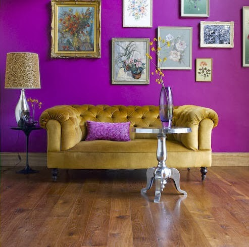 20 Contoh Ruang Tamu Warna Ungu Design Rumah