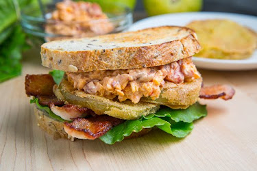 Fried Green Tomato BLT with Pimento Cheese