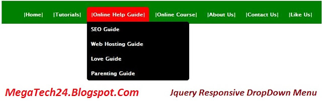 JQuery DropDown Menu With Codes Must Watch