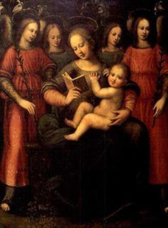 Plautilla Nelli Мадонна с Младенцем и четырьмя ангелами