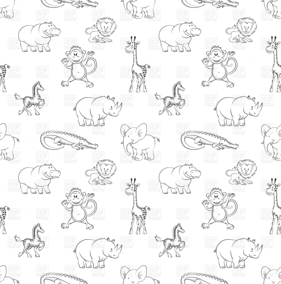 desember 2018 just wallpapers 1080P HD Wallpapers City wild animals lion elephant and zebra seamless pattern in cartoon