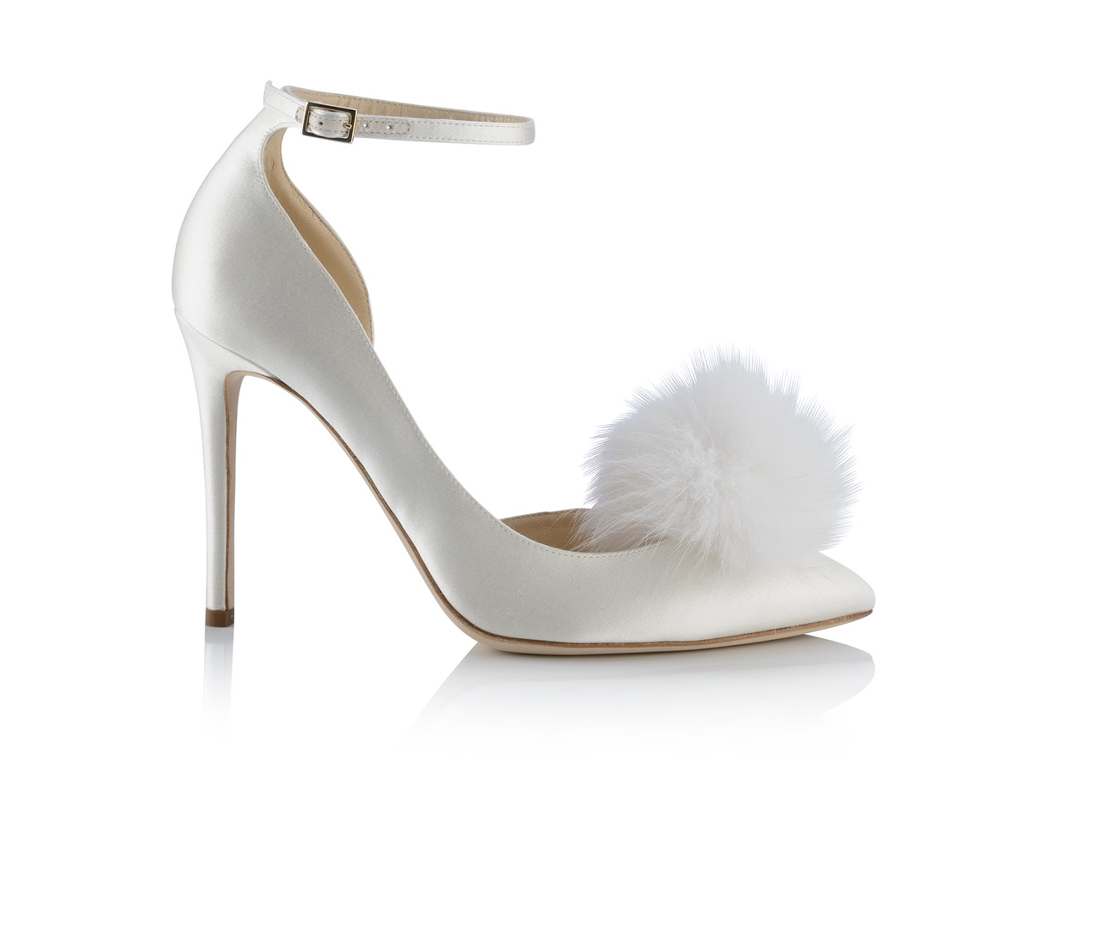 d86c88e833 Cause a stir in these White Suede and Hot Fix Crystal Embellished Sandals  with an Ostrich Feather Tassel as you take to the aisle on your wedding day.