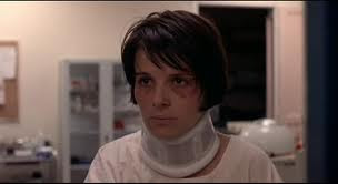 Juliette Binoche as widow Julie, hospitalized after accident, directed by Krzysztof Kieslowski