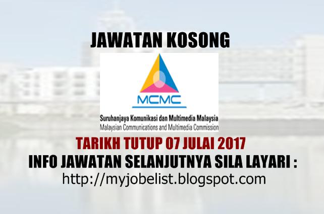 Jawatan Kosong di Suruhanjaya Komunikasi Dan Multimedia Malaysia (SKMM)