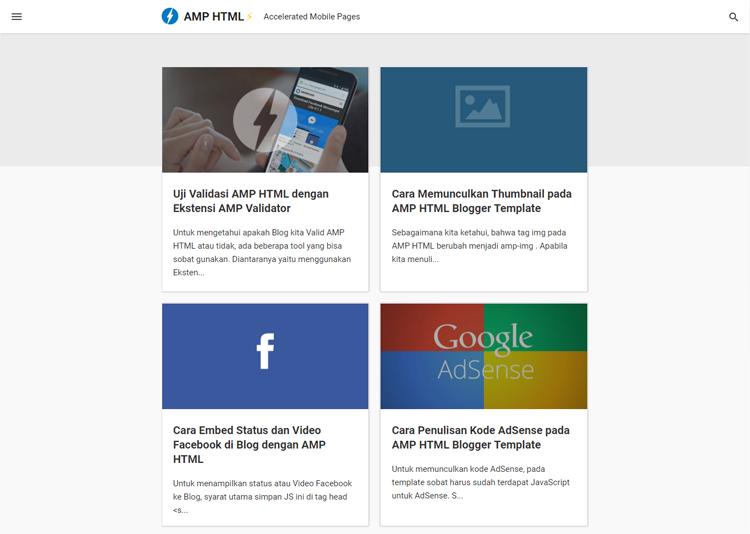 amp html kumpulan template amp blogger