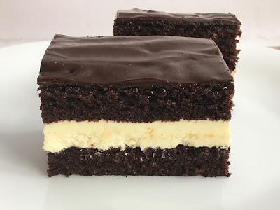 Ciasto czekoladowe z kremem z mleka