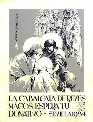 Cartel de la Cabalgata de Reyes Magos de Sevilla - 1984 - Juan Valdés