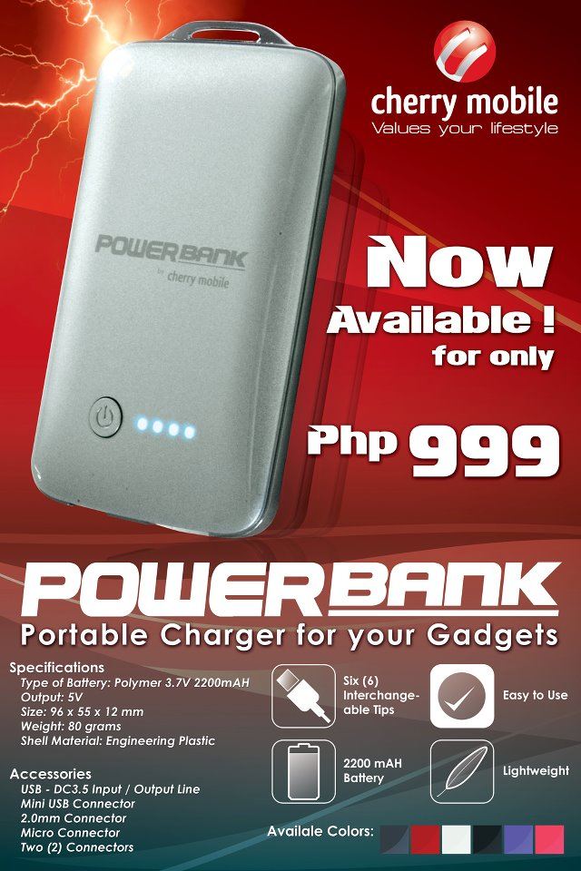 Cherry Mobile Powerbank Portable Charger for your Mobile and other Gadgets