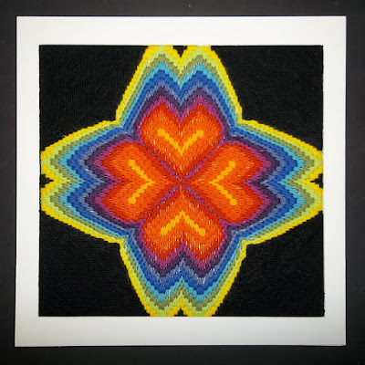 "4-way bargello ""Hearts Afire"""