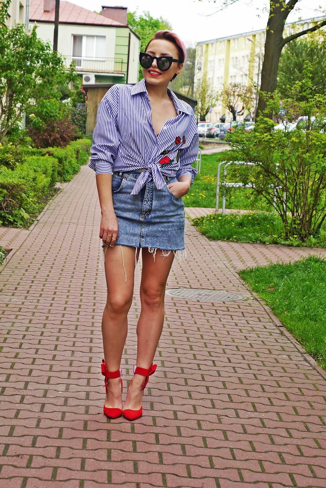 embroidered_shirt_stripes_denim_skirt_karyn_blog_look_ootd_110517a