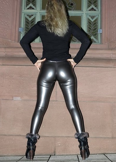 leather leggings ass