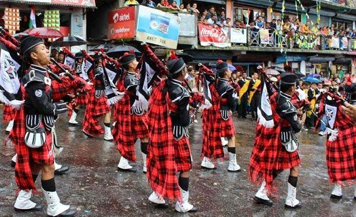 SUMI Backpiper band in Independence Day celebration in kalimpong mela ground