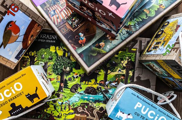 Puzzle z Puciem i innymi ilustracjami ze znanych i lubianych książek