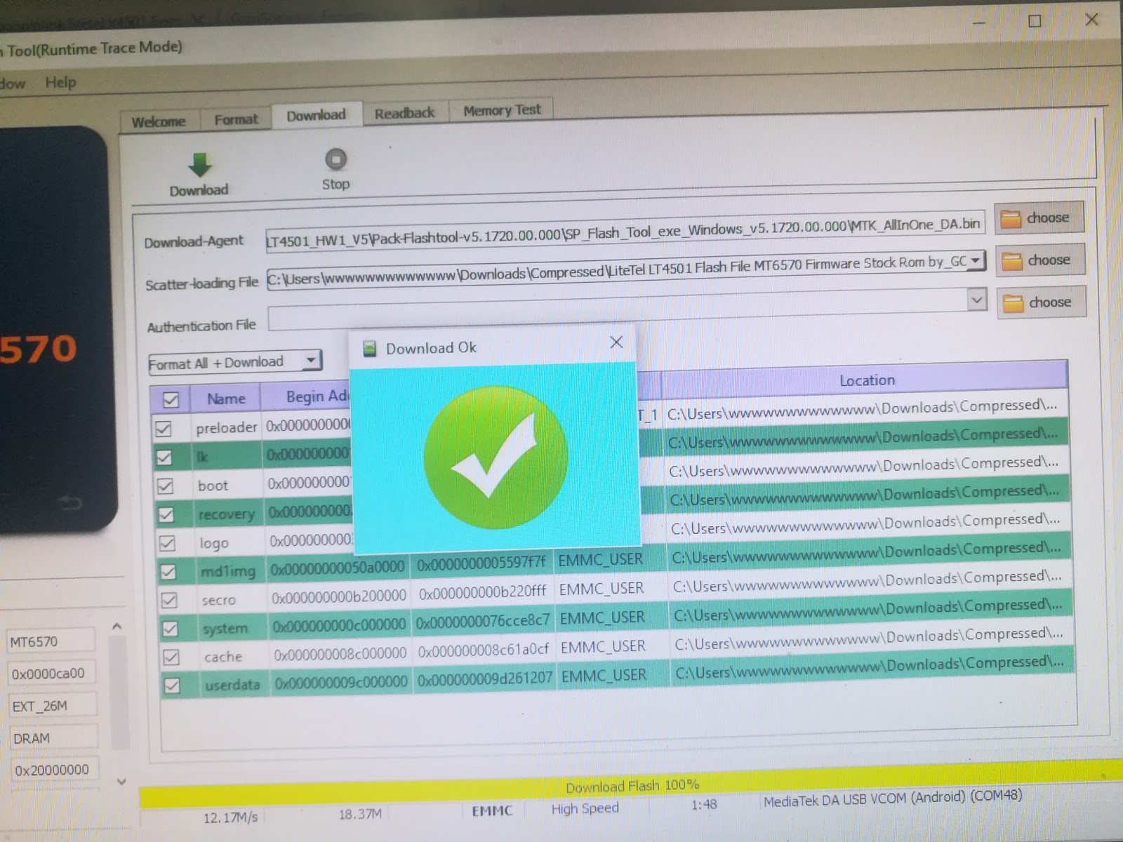 LiteTel LT4501_HW1_V5 100% tested flash file by mhunlocker com