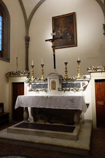 Rucellai Chapel and Sepulcre Museum Marino Marini Florence Italy Altar