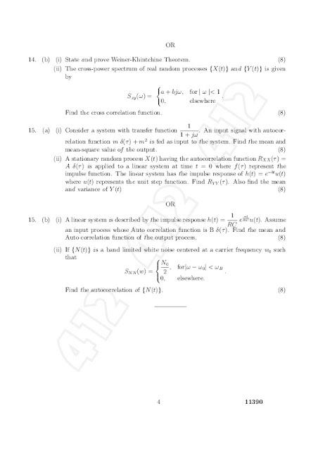 Ma2261 Probability And Random Processes Anna University