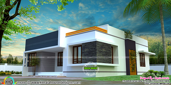1175 sq-ft single floor 3 bedroom home