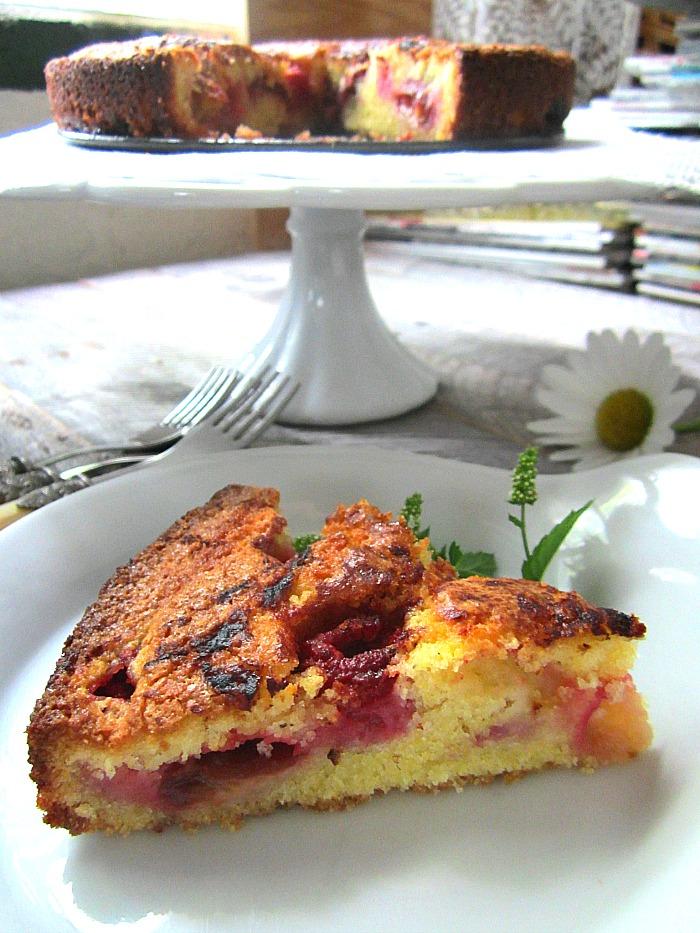 Stacey Snacks: Plum & Raspberry Cornmeal Cake