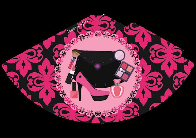 Gorros para imprimir gratis de Fiesta de Maquillaje.