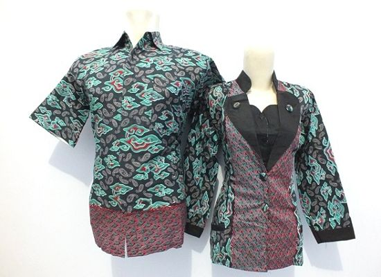 15 Model Atasan Batik Kombinasi Modern, Elegan! | Model ...