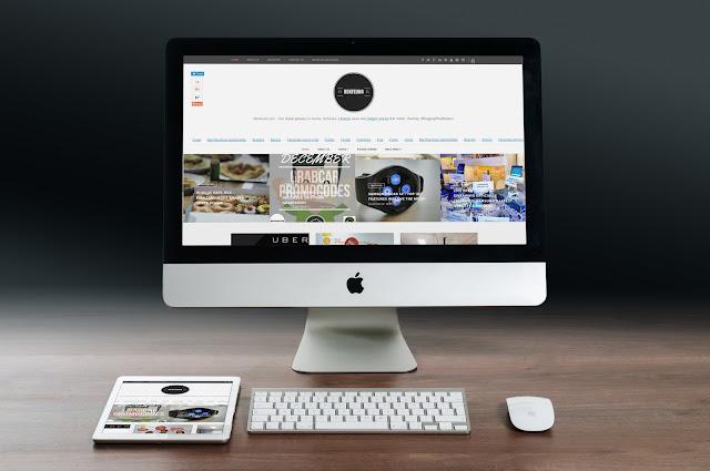 Benteuno.com on an iMac & iPad